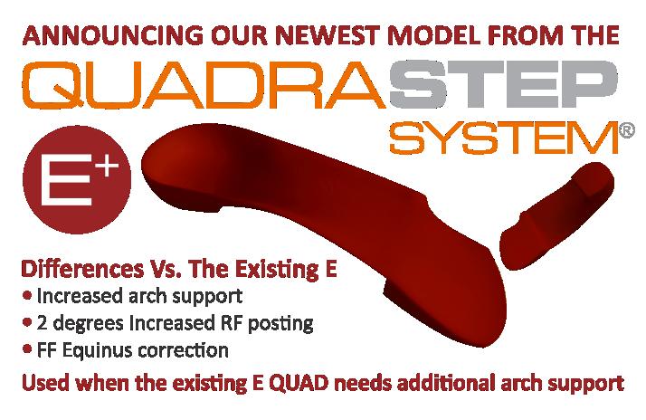 NEW E+ Orthotic from the QUADRASTEP SYSTEM® by NOLARO24, LLC