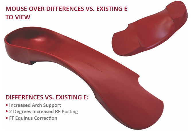 The E+ Orthotic from The QUADRASTEP® SYSTEM