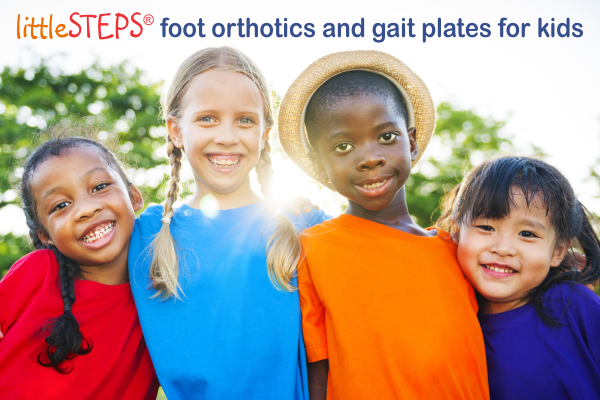 littleSTEPS® foot orthotics and gait plates for kids