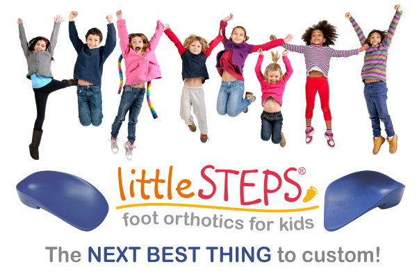 littleSTEPS® foot orthotics and gait plates for kids - the NEXT BEST thing to customs!
