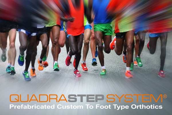 QUADRASTEP SYSTEM® prefabricated custom to foot type orthotics for adults