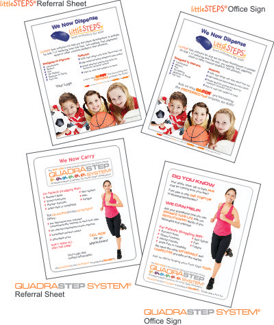 Get your QUADRASTEP® or littleSTEP® Promotional Materials for FREE