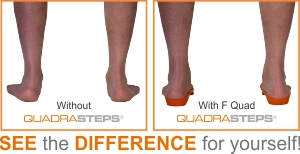 QUADRASTEP SYSTEM® foot orthotics make the difference!